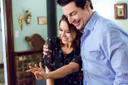 ALL OF MY HEART - A young caterer's life suddenly changes course when she inherits a country home and learns she must share it with a career-obsessed Wall Street trader. Photo: Lacey Chabert, Brennan Elliott Photo Credit: Copyright 2014 Crown Media United States LLC/Photographer: Bettina Strauss